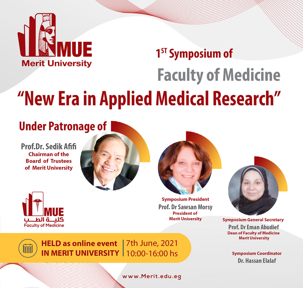"""1ST Symposium of Faculty of Medicine """"New Era in Applied Medical Researches"""""""